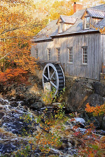 Sable River Mill in Autumn by Debbie  Roberts