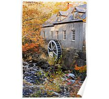 Sable River Mill in Autumn Poster