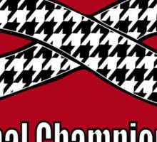 Alabama Infinity National Championships Crimson back Sticker