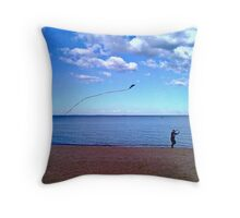 high (as a kite)  Throw Pillow