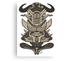 Buffalo Warrior Totem Canvas Print