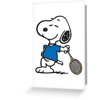 Snoopy Sportive Greeting Card