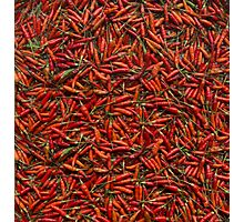 Drying Red Hot Chili Peppers Photographic Print