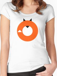 A Most Minimalist Fox Women's Fitted Scoop T-Shirt