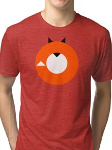 A Most Minimalist Fox Tri-blend T-Shirt