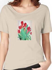 A Bouquet of Red Tulips  Women's Relaxed Fit T-Shirt