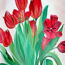 A Bouquet of Red Tulips  by taiche