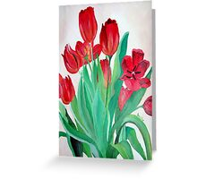 A Bouquet of Red Tulips  Greeting Card