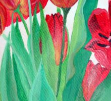A Bouquet of Red Tulips  Sticker