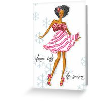 Dance Into The Season Greeting Card