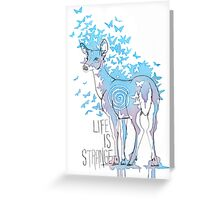 Life is Strange- Watercolor Butterfly Doe  Greeting Card