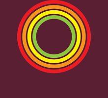 retro rainbow circles Unisex T-Shirt