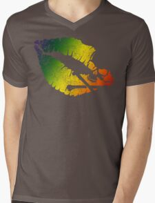 rainbow poison lips Mens V-Neck T-Shirt