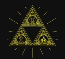 Gold Trinity Shirt - Zelda by pixelpatch