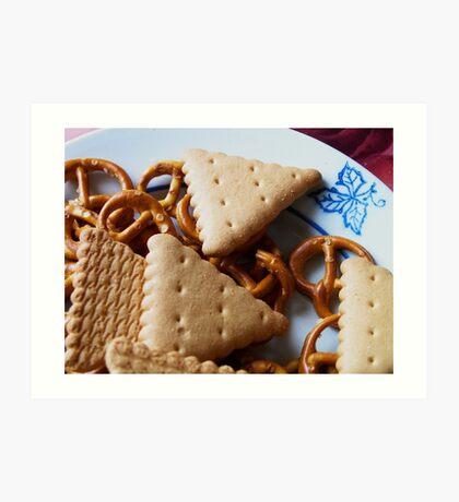 Biscuits & pretzels Art Print