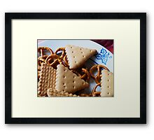 Biscuits & pretzels Framed Print