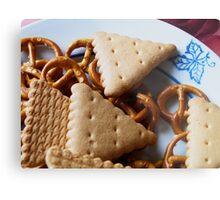 Biscuits & pretzels Metal Print