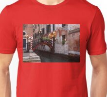 Venice, Italy - the Cheerful Christmassy Restaurant Entrance Bridge Unisex T-Shirt