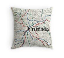 The Walking Dead - Terminus Map Throw Pillow