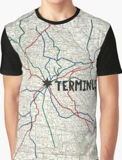The Walking Dead - Terminus Map Graphic T-Shirt