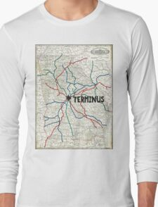 The Walking Dead - Terminus Map Long Sleeve T-Shirt