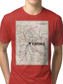 The Walking Dead - Terminus Map Tri-blend T-Shirt