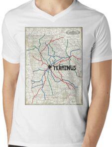 The Walking Dead - Terminus Map Mens V-Neck T-Shirt