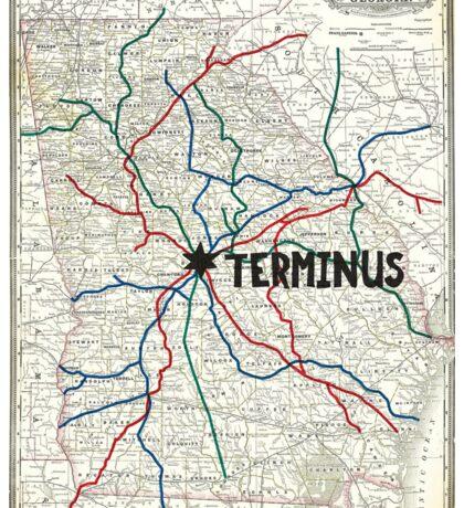 The Walking Dead - Terminus Map Sticker