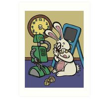 Teddy Bear And Bunny - It's All Fun And Games Art Print