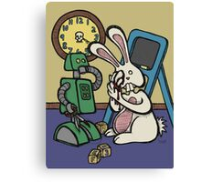 Teddy Bear And Bunny - It's All Fun And Games Canvas Print