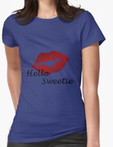River song mono from Dr who Womens Fitted T-Shirt