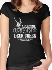 Deer - Ontario Nature Train Women's Fitted Scoop T-Shirt