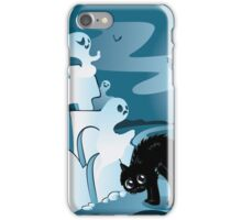 Cartoon Cemetery with Ghosts 3 iPhone Case/Skin