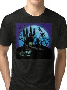 Haunted Halloween Castle 3 Tri-blend T-Shirt