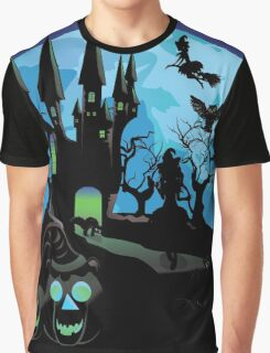 Haunted Halloween Castle 3 Graphic T-Shirt