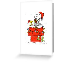 snoopy christmas Greeting Card