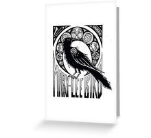 Bird Nouveau Greeting Card