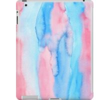 Hand-Painted Abstract Watercolor Red Blue Painting iPad Case/Skin