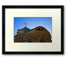 golden cross on the roof of the church of the Holy Sepulchre Framed Print