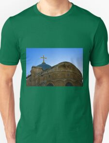golden cross on the roof of the church of the Holy Sepulchre T-Shirt