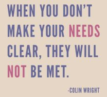 Needs by Colin Wright