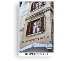 hopfen & co Canvas Print