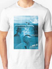 Blue Heron Night T-Shirt T-Shirt