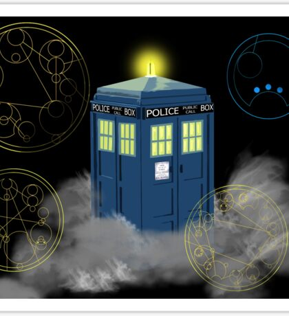 dr who tardis Sticker