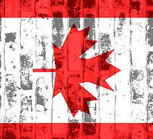 Canada Flag Vintage by Nhan Ngo
