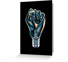 Protest fist light bulb Greeting Card