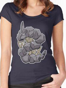 PokéPun - 'Get Down Onix' Women's Fitted Scoop T-Shirt