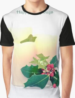Happy Holly Days Graphic T-Shirt