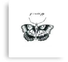 """""""If I Could Fly"""" Butterfly Drawing  Canvas Print"""