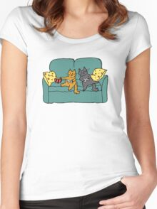 Gamer Cats Women's Fitted Scoop T-Shirt